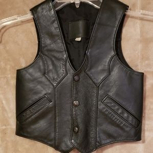 Other - Girl's Black Leather Vest